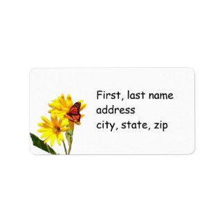 Butterfly Label