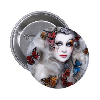 Butterfly Lady 6 Cm Round Badge