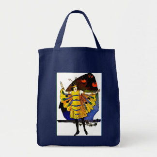 Butterfly Lady Tote Bags