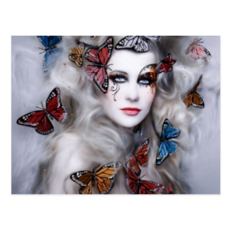Butterfly Lady Postcard