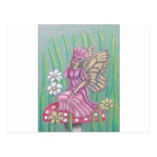 butterfly Lady Postcard