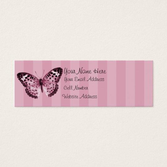 Butterfly Lady Skinny Profile Card
