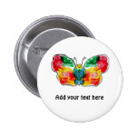 Butterfly - landscape template design pinback button