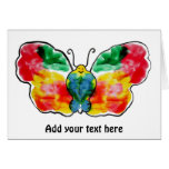 Butterfly - landscape template design greeting card