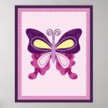 Butterfly Lane Poster Nursery Art Print 2 of 3