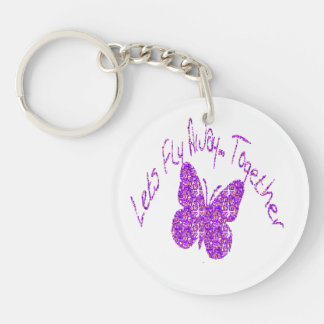 Butterfly Let s Fly Away Together Key-Chain Acrylic Key Chains