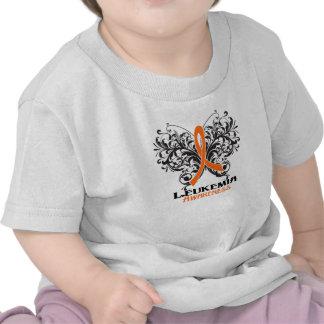 Butterfly Leukemia Cancer Awareness Tee Shirt