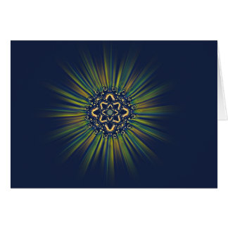 Butterfly Light Mandala Winter Solstice Card