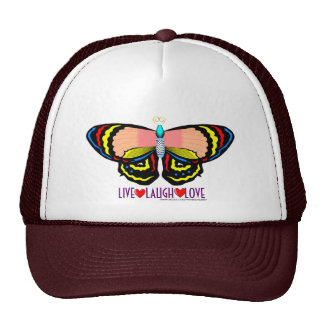 BUTTERFLY - LIVE LAUGH LOVE HATS