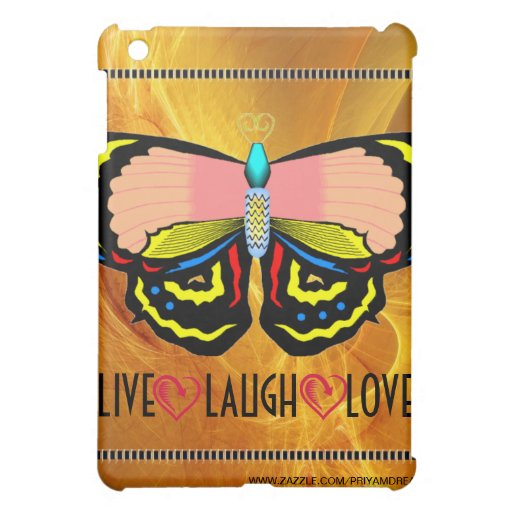 BUTTERFLY - LIVE LAUGH LOVE iPad MINI COVERS