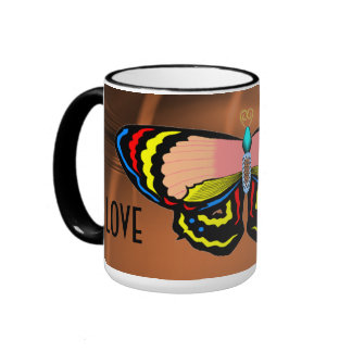 BUTTERFLY - LIVE LAUGH LOVE COFFEE MUGS