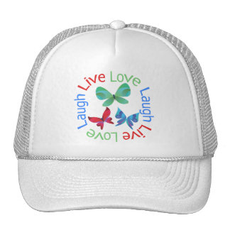 Butterfly - Live Love Laugh Hats