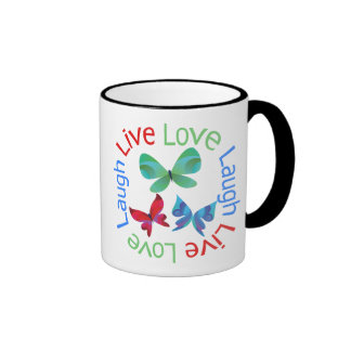 Butterfly - Live Love Laugh Mugs