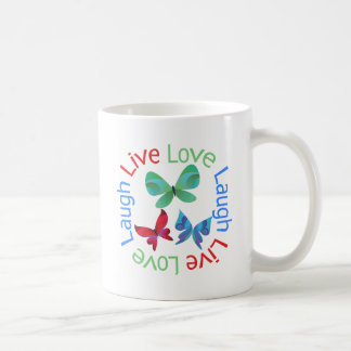 Butterfly - Live Love Laugh Coffee Mugs