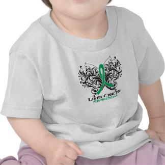 Butterfly Liver Cancer Awareness T-shirt