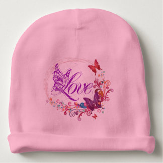 Butterfly love baby beanie