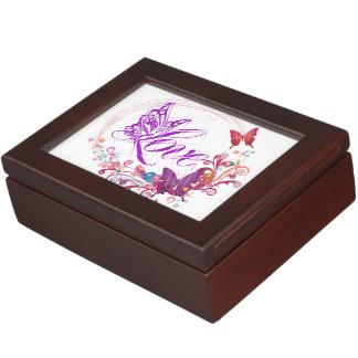 Butterfly love keepsake box