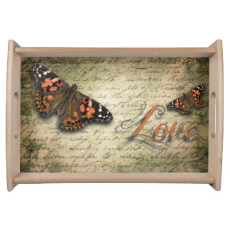 Butterfly Love Serving Tray