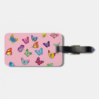 butterfly Luggage Tag w/ leather strap