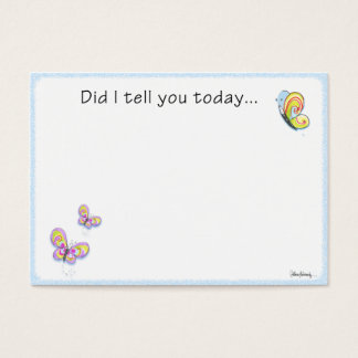 Butterfly Lunch Box Love Note Business Card