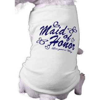 Butterfly/ Maid of Honor Sleeveless Dog Shirt