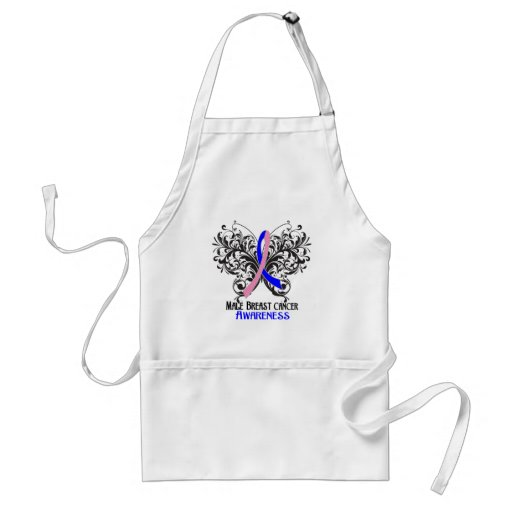 Butterfly Male Breast Cancer Awareness Aprons