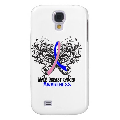 Butterfly Male Breast Cancer Awareness Galaxy S4 Case