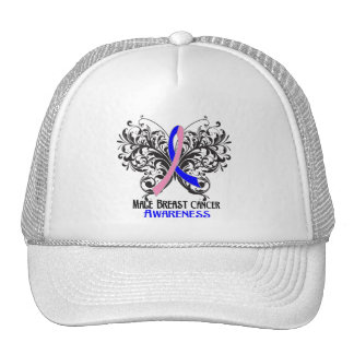 Butterfly Male Breast Cancer Awareness Hat
