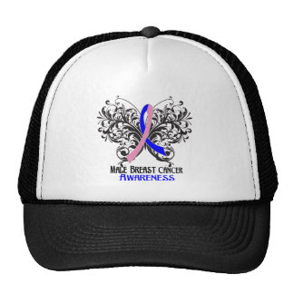 Butterfly Male Breast Cancer Awareness Trucker Hats