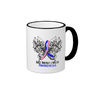 Butterfly Male Breast Cancer Awareness Mug