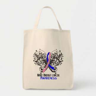Butterfly Male Breast Cancer Awareness Bags