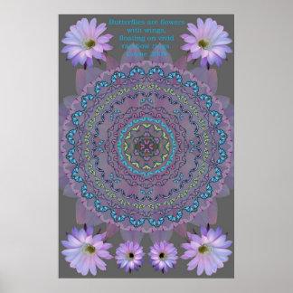 Butterfly Mandala 2B Poster