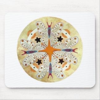 Butterfly Mandala, mixed media Mousepad