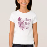 Butterfly Martial Arts Black Belt Girl T-Shirt