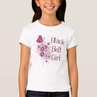 Butterfly Martial Arts Black Belt Girl T-Shirt