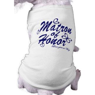 Butterfly/Matron of Honor Sleeveless Dog Shirt