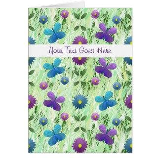 Butterfly Meadow Greeting Card