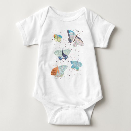 Butterfly Meadow Habitat Baby Bodysuit