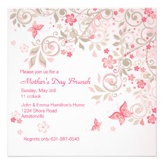 Butterfly Meadow Mother s Day Invitation