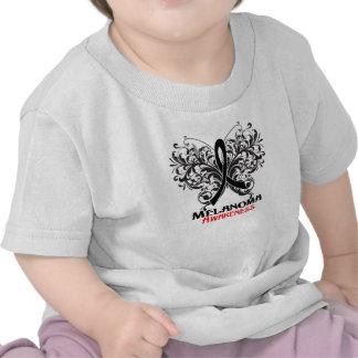 Butterfly Melanoma Awareness T Shirt