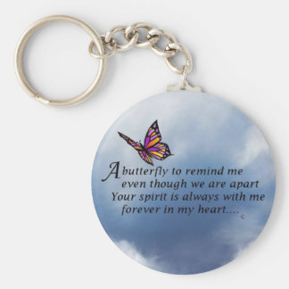 Butterfly  Memorial Poem Key Ring