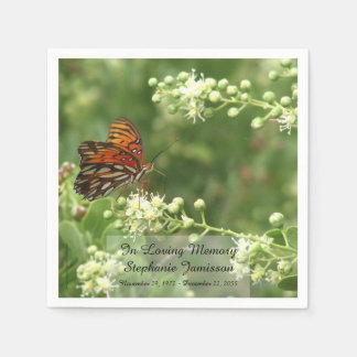 Butterfly, Memorial Service Paper Napkins