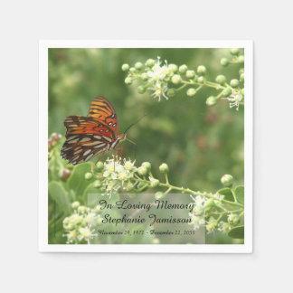Butterfly, Memorial Service Paper Napkins Paper Napkin