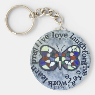 Butterfly Message Key Ring