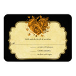 Butterfly Metallic Gold Heart Gold Faux Parchment Personalized Announcements