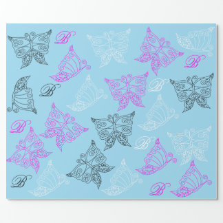 Butterfly Monogram Wrapping Paper