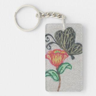 Butterfly Mosaic Art Keychain
