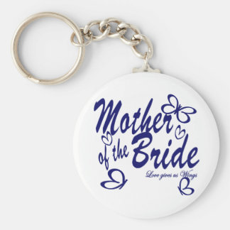 Butterfly Mother of the Bride Key Chain