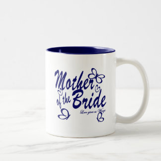 Butterfly/Mother of the Bride Two-Tone Coffee Mug
