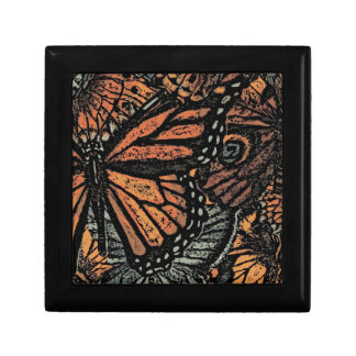 BUTTERFLY MOTIF Box Small Square Gift Box